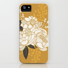 Glam Florals - Gold iPhone Case