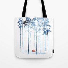 Sleeping in the woods Tote Bag