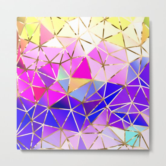 Rainbow Geometric pattern #8 Metal Print