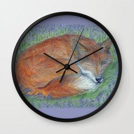 A Sleepy Fox  Wall Clock