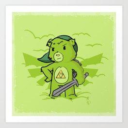 Link Bear Art Print