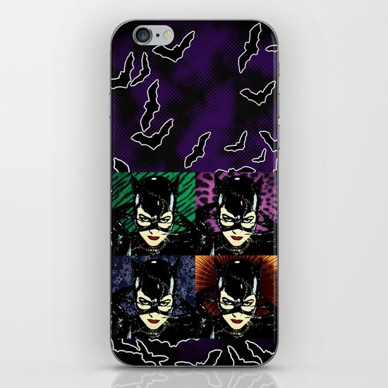 Four Catwomen iPhone & iPod Skin