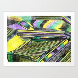A bus to heaven Art Print