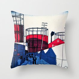 Senju, Tank Town - Digital Remastered Edition Throw Pillow