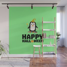 Happy Halloween Witch Penguin T-Shirt D1niv Wall Mural