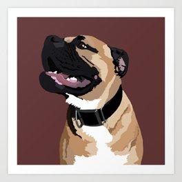 Ripley the Big Dog Art Print