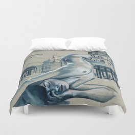 In the city // nude cityscape Duvet Cover