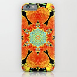 Dynamic patterns of red, blue, orange and yellow colors symbols of royalty, happiness, prosperity and success. iPhone Case