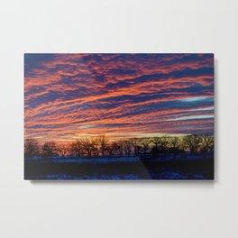 New Year's Sunset Metal Print