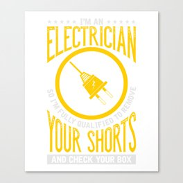 I'm An Electrician  for Men's Canvas Print