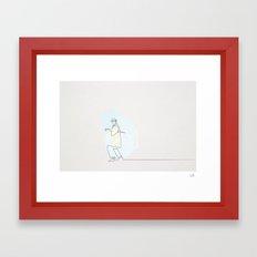 Mon Oncle la linea Framed Art Print