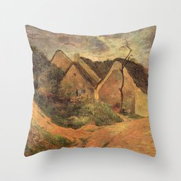 Paul Gauguin - Osny, Stormy Weather (1883) Throw Pillow