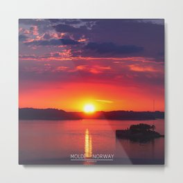 Last Light of the Day - Molde, Norway Metal Print