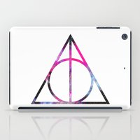 deathly hallows iPad Cases featuring The Deathly Space Hallows by Enyalie