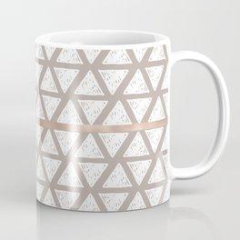 Marble Geometric Sand Beige Triangle Pattern Taupe Coffee Mug
