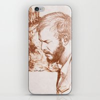 bon iver iPhone & iPod Skins featuring Bon Iver (Justin Vernon) by ChrisGreavesArt