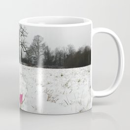 Rose in the snow Coffee Mug