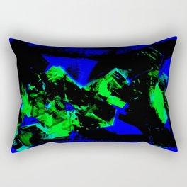 Happy Chaos (Blue & Green) Rectangular Pillow
