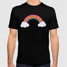 Rainbow MEDIUM Black Mens Fitted Tee