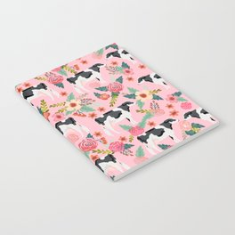 Holstein cattle farm animal cow floral Notebook