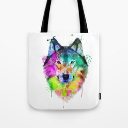 Wolf Watercolor, Wolf Painting, Wolf Portrait, Wolf art, Wolf illustration Tote Bag