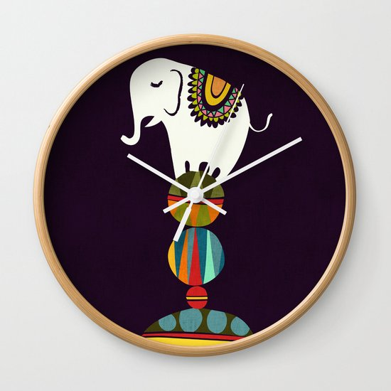 Elephant Circus Wall Clock