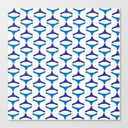 Negative Waves: Shades of Blue Canvas Print