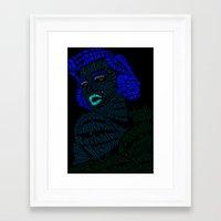 verse Framed Art Prints featuring Marilyn Verse by Kaitlyn Brown