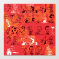 snoopy Canvas Prints featuring SNOOPY AAUGH! by d.ts