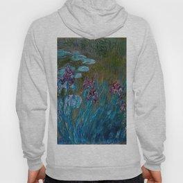 Monet Irises and Water Lilies Hoody
