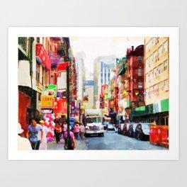 Chinatown in New York Art Print