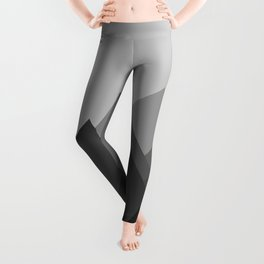 Black and White Abstract Mountains Leggings