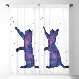 Galactic Cat Blackout Curtain