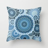 gypsy Throw Pillows featuring GYPSY by Monika Strigel