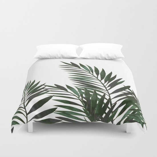 Palm Leaves Green Duvet Cover By Lavieclaire Society6