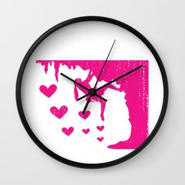 Just A Girl Who Loves Climbing Bouldering or Climbing Girl Gift Wall Clock