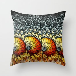 Billow - Abstract Fractal Artwork Throw Pillow
