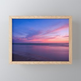 Pink Clouds and Water Framed Mini Art Print