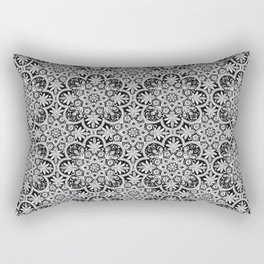 Azulejo Floral Pattern Rectangular Pillow