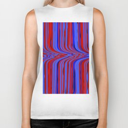 red and blue flowing Biker Tank
