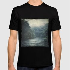 valley and river Black Mens Fitted Tee MEDIUM