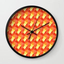 Optical Steps Pink Wall Clock
