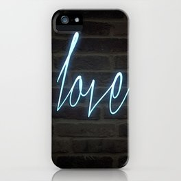 Neon Love iPhone Case