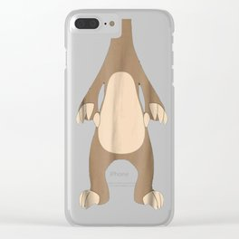 Lazy Sloth shirt Halloween Sloth costume funny T-Shirt Clear iPhone Case