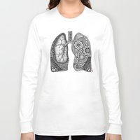 lungs Long Sleeve T-shirts featuring Lungs by ericajc