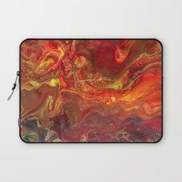 Acrylic Pour #45 Lava-Love Laptop Sleeve