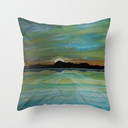 WOMAN UPON THE WATER Throw Pillow