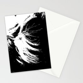 Black & White Hair Stationery Cards