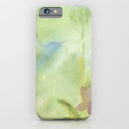 Hummingbird Selah - Sage Green iPhone Case