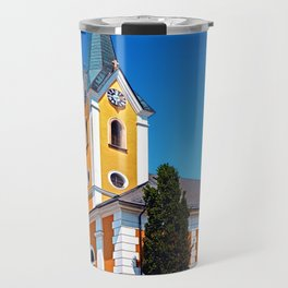 The village church of Alberndorf in der Riedmark 2 Travel Mug